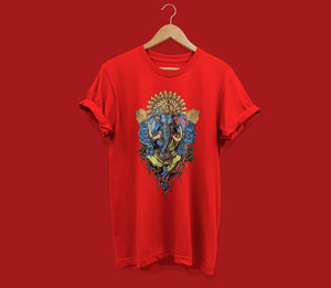 T-shirt Buy Now Ganesha Graphics T-shirt Red