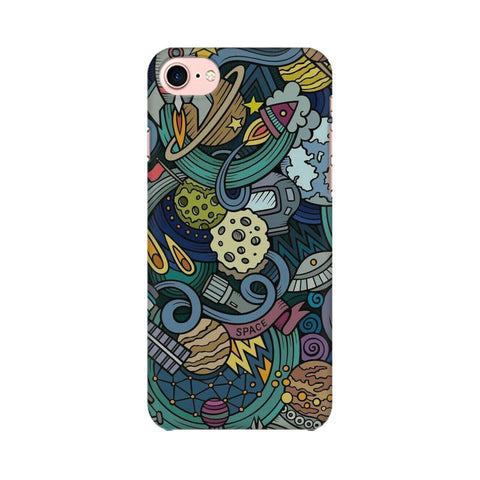space doodle apple iphone 8 mobile cover
