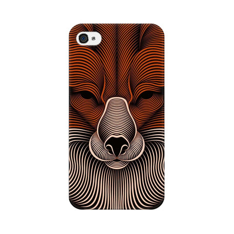 red fox apple iphone 4 mobile cover