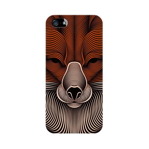 red fox apple iphone SE mobile cover