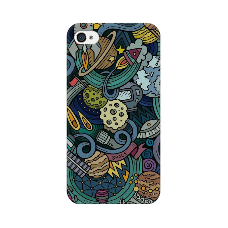 space doodle apple iphone 4s mobile cover