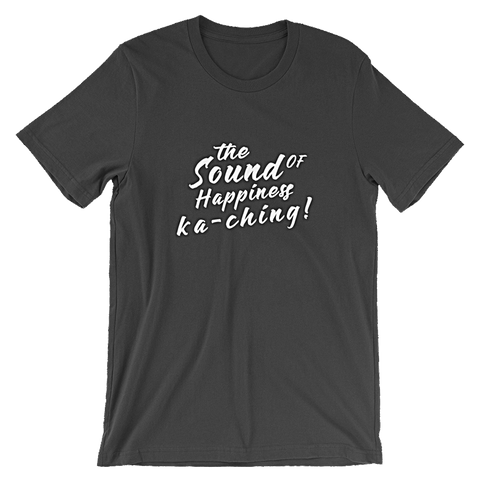 ka-ching front black t-shirt