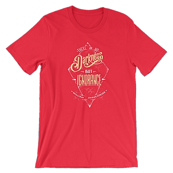 Shakespeare front red t-shirt