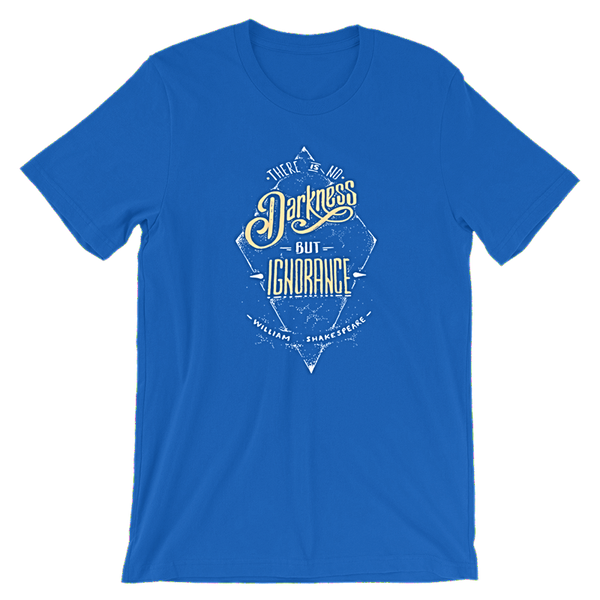 Shakespeare front royal blue t-shirt