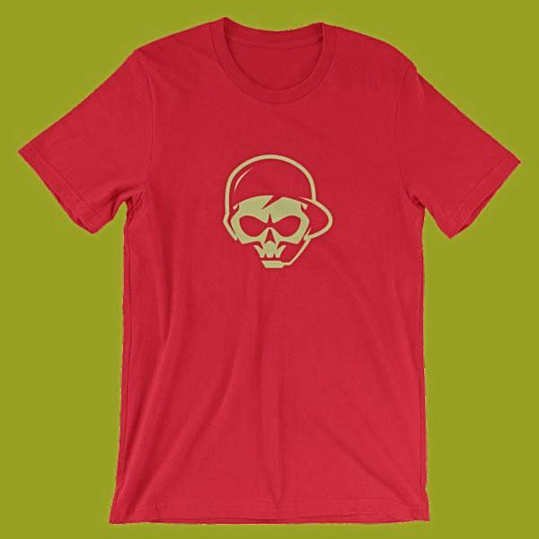 Buy Online gaming veteran graphics T-shirts color red