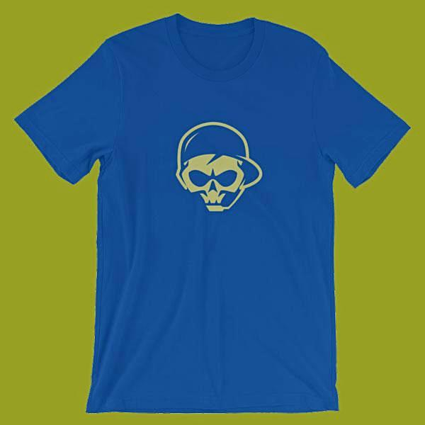 Buy Online gaming veteran graphics T-shirts color blue