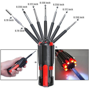 8 in 1 Screwdrivers plus Flashlight