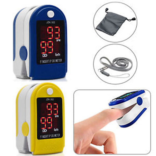 Fingertip Blood Oxygen + Heart Rate Monitor