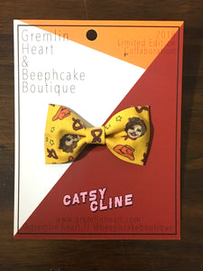 """Catsy Cline"" Cat Bow Tie"