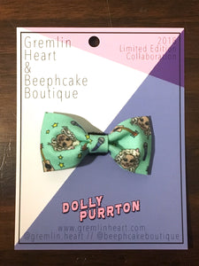 """Dolly Purrton"" Cat Bow Tie"