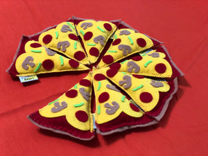 "The Prince Who Loved Pizza ""Save Meow a Slice!"" Felt Catnip Jingle Cat Toy"