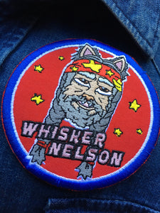 "Limited Edition ""Whisker Nelson"" Embroidered Iron-On Patch"