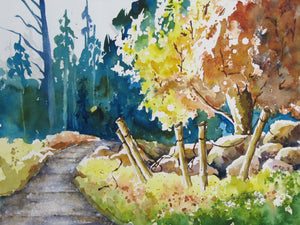 Bend in the Creek by watercolor artist Joy Skinner