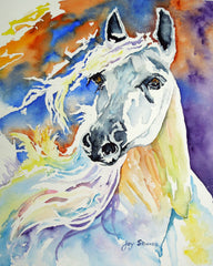 Prancer an Original Watercolor Painting by artist Joy Skinner