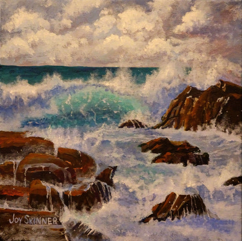Storm Brewing is a Florida ocean view seascape by artist Joy Skinner