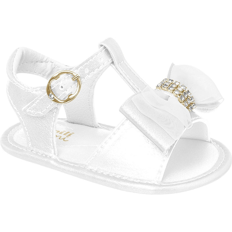 Chamomile Ribbon Bow II Sandal write - Pampili
