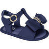 Chamomile Ribbon Bow Sandal Navy  - Pampili