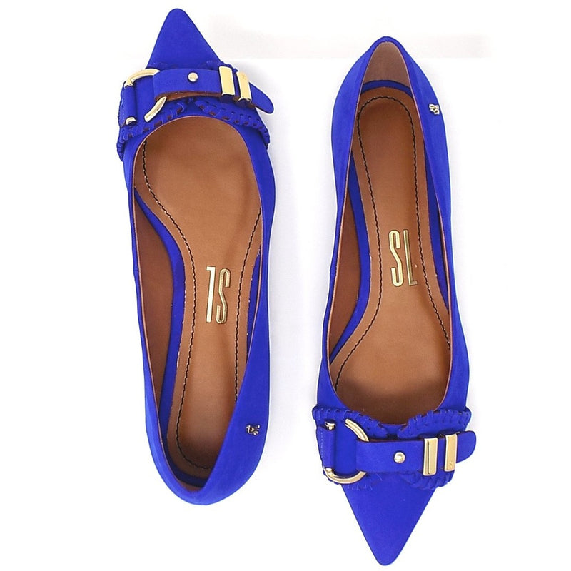 Blue Luxury Flats I shoe - Santa Lolla