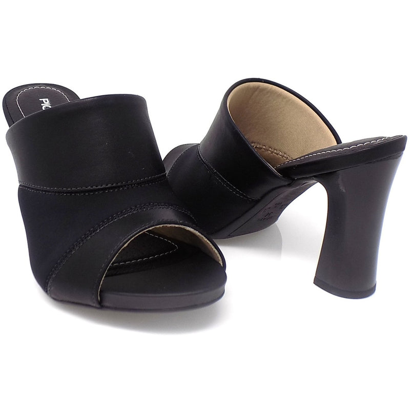 Black Bunion Sling Back Sandal ONE55 by Piccadilly Cloud