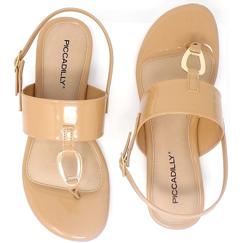 Extra Wide Flat Sandal ONE55 by Piccadilly Cloud
