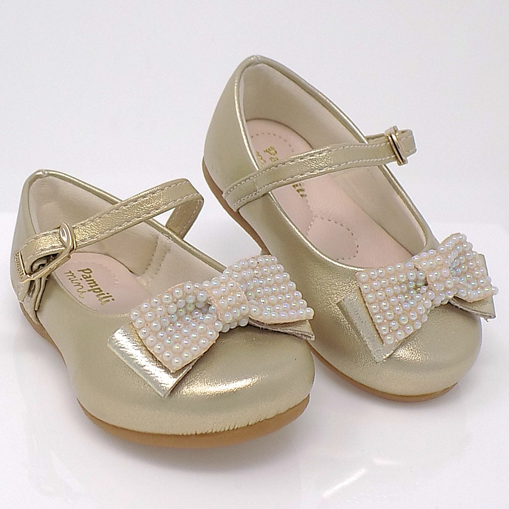 Angel Pearls III Shoes Gold  - Pampili