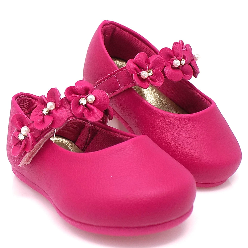 Pink Angel Flowers II shoe - Pampili