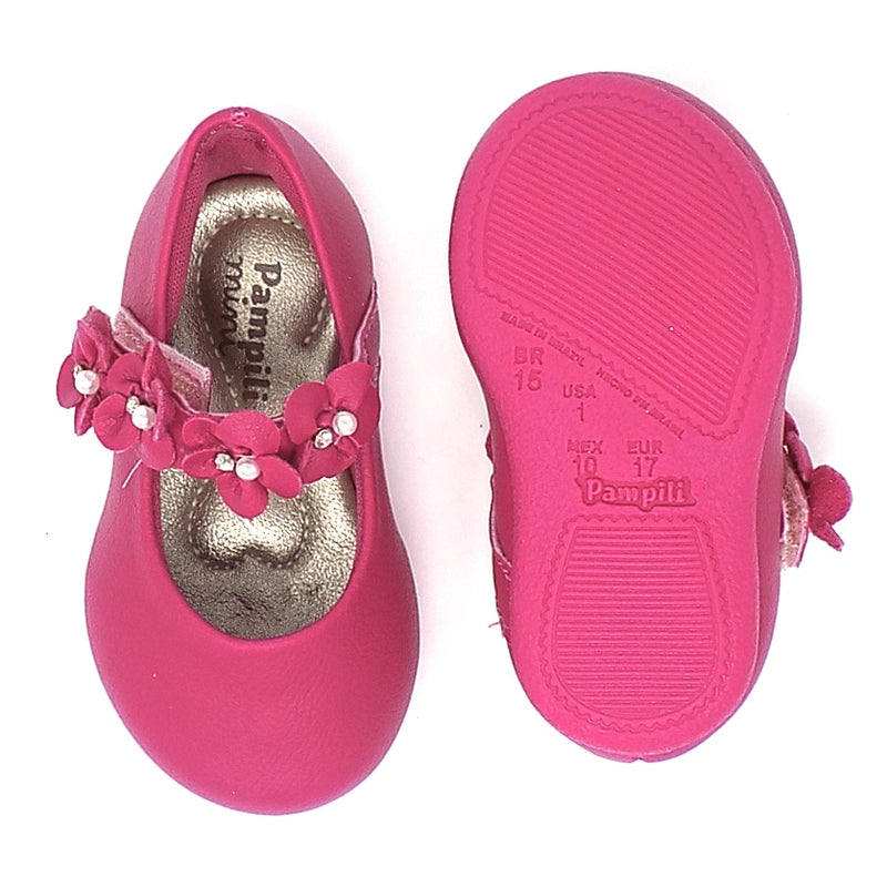 Rubber outsole - Angel Flowers II shoe Pink - Pampili