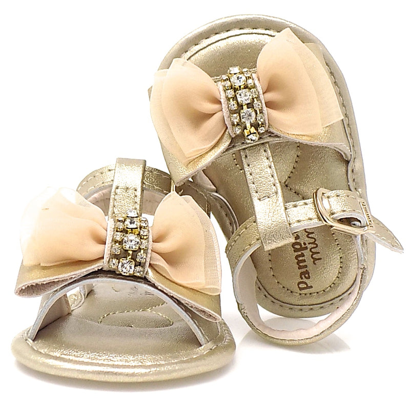 Chamomile Ribbon Bow II Sandal Gold - Pampili