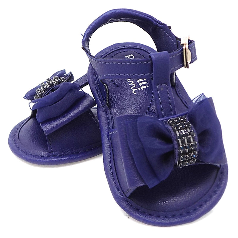 Extremely flexible - chamomile Ribbon Bow Sandal Navy - Pampili