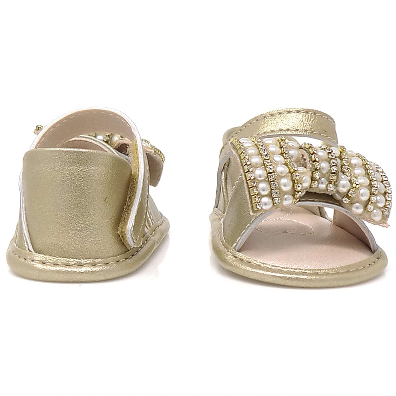 """Extremely flexible  - Golden Chamomile Ribbon Bow Sandal - Pampili  """