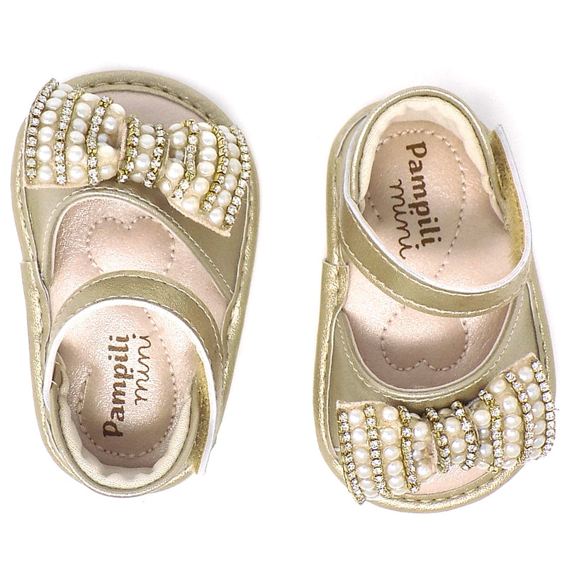 """Extremely flexible  - Golden Chamomile Ribbon Bow Sandal - Pampili"