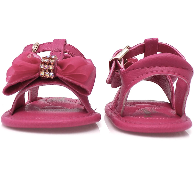 Extremely flexible - chamomile Ribbon Bow Sandal Maroon - Pampili