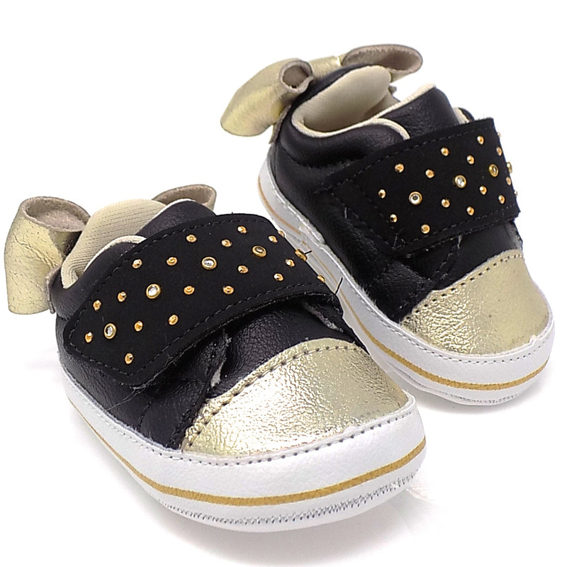 Nina Bicolor shoe Black/Gold - Pampili