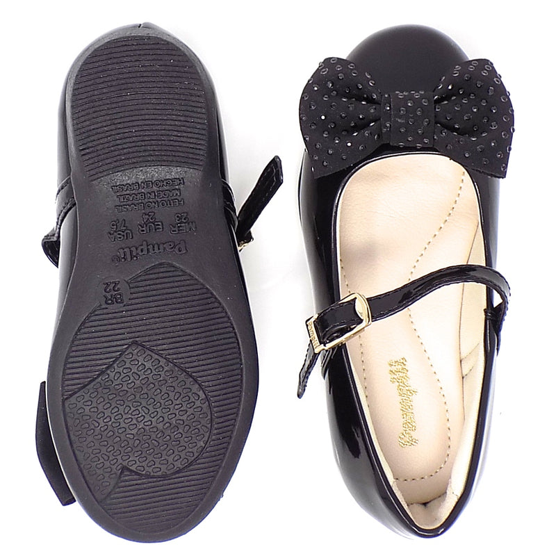 Rubber outsole - Ballerina Hook-and-loop Shoe - Pampili
