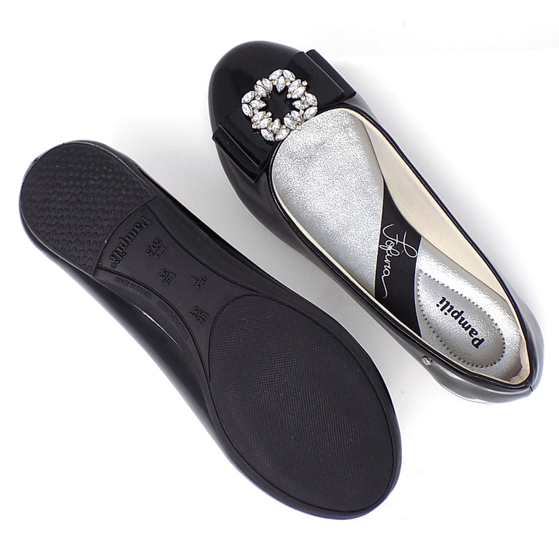 Rubber outsole - Black Super Cutie Fashion shoe - Pampili