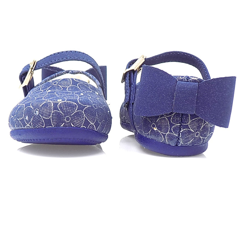 Angel Back Bow Sneaker Navy - Pampili