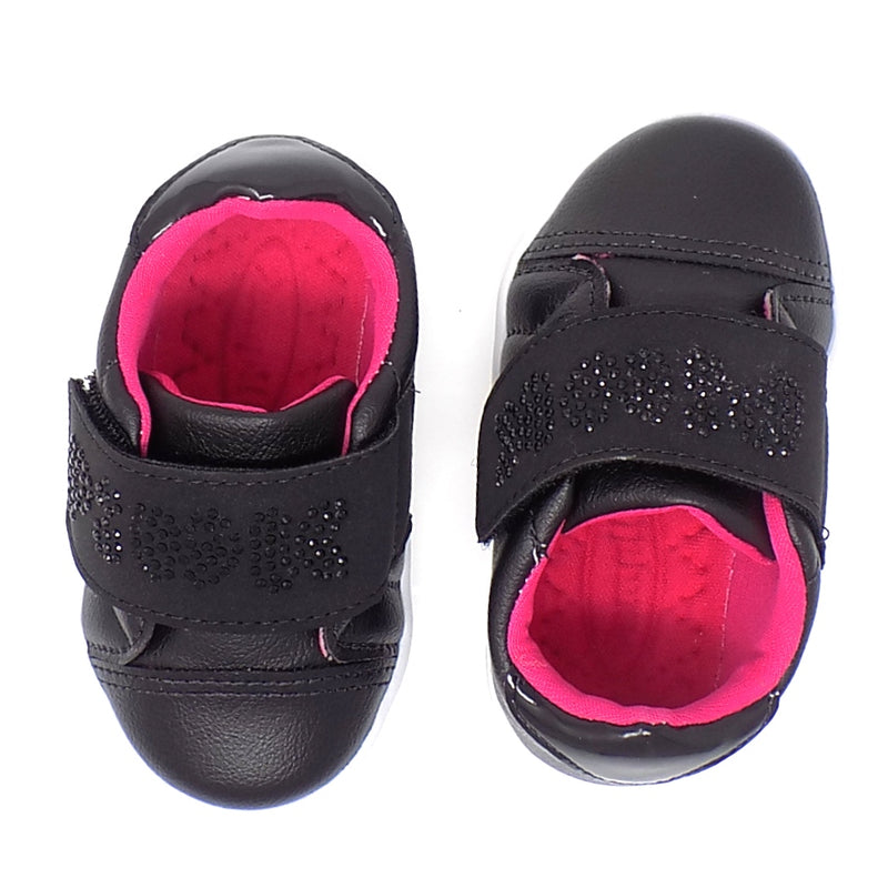 Soft textile lining - Pom Pom Black sneakers - Pampili