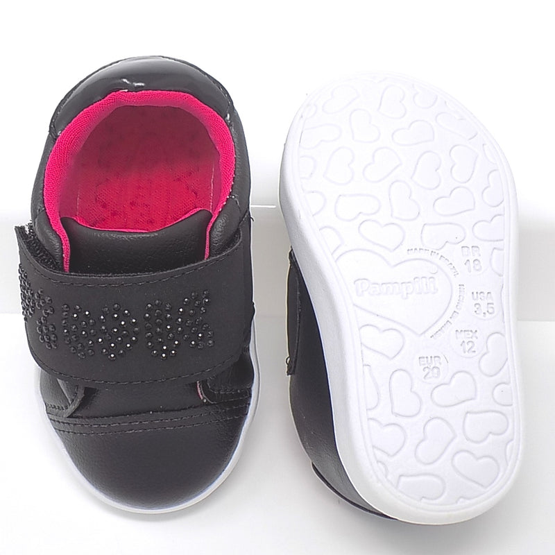 Rubber outsole - Pom Pom Black sneakers - Pampili