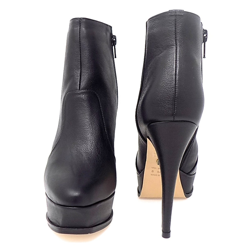 Black Platform Thin Heel Ankle Boot - ONE55 by Werner