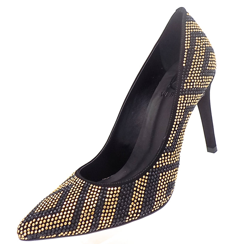 Scarpin Black and Gold ONE55 by Werner