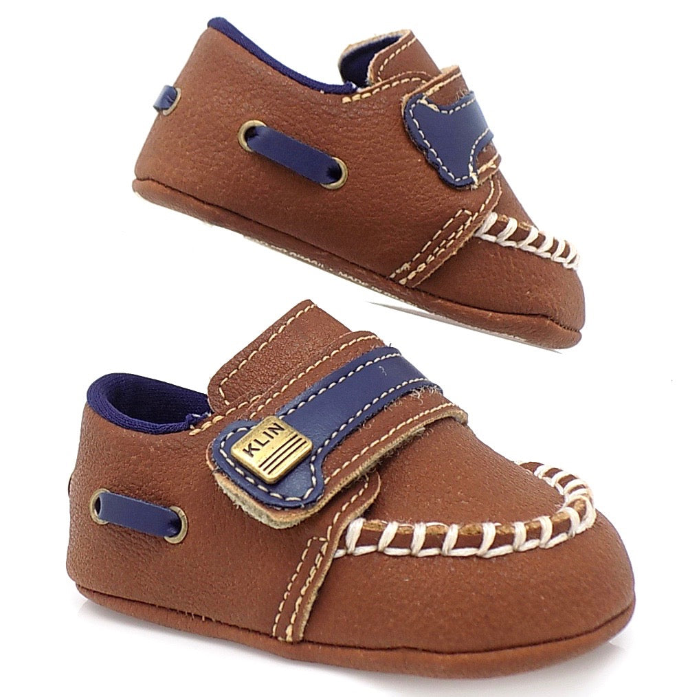 Brown Baby Klin Leather Loafers