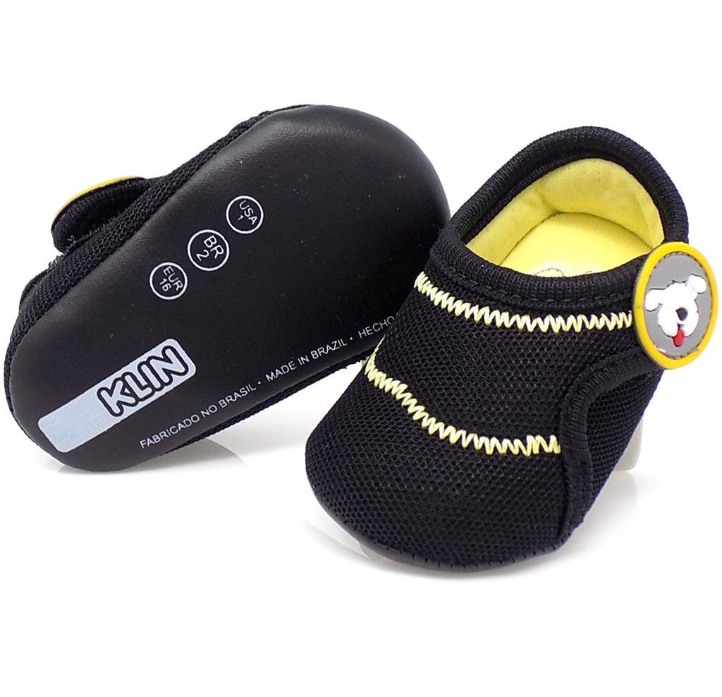 Black New Comfort Fun Baby Booties