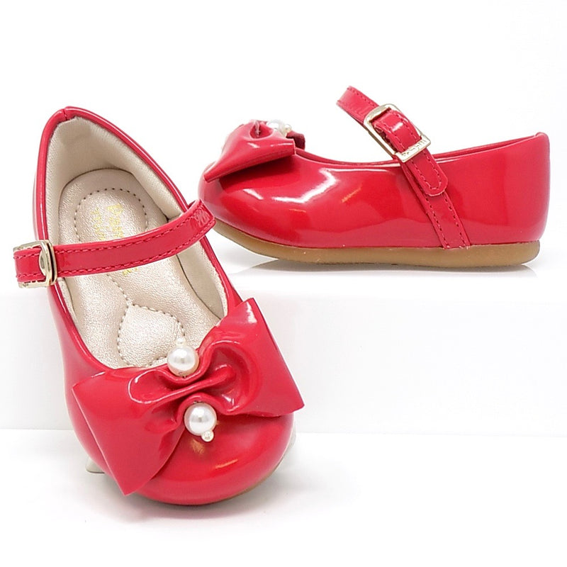 Varnished Red Little Girl Shoe