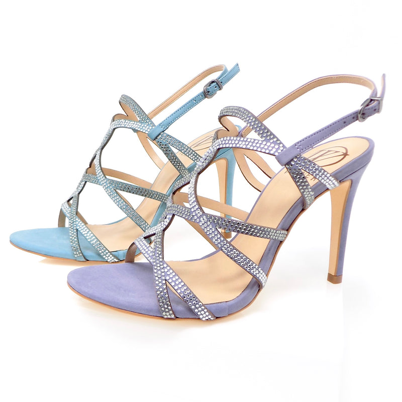 Bluestone and Grapeade Embellished Heeled Sandals