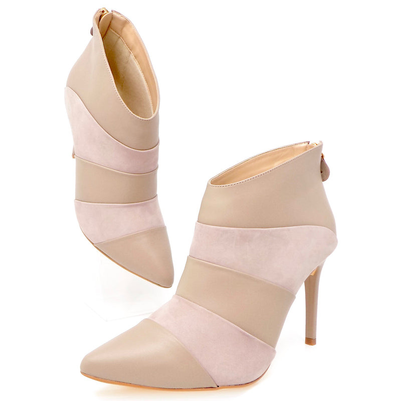 Beige Leather and Nubuck Ankle Boot - ONE55 by Werner