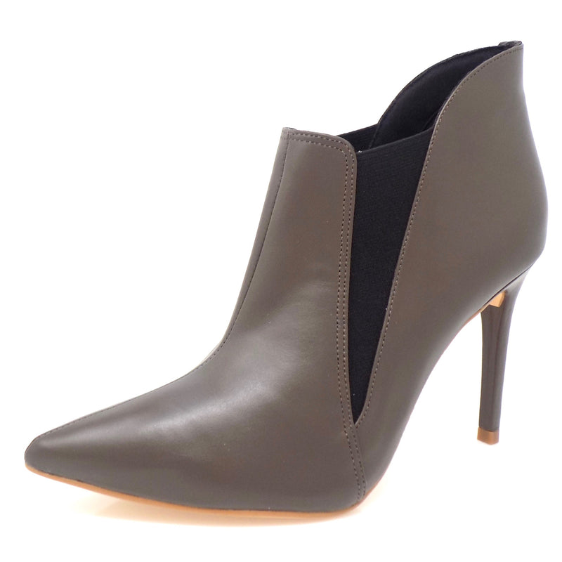 Army Grey Elastic Ankle Boots - ONE55 by Werner