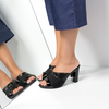 Black Bunion Sling Back Sandal