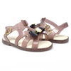 Glittery Brown Black Ribbon PVC Sandal