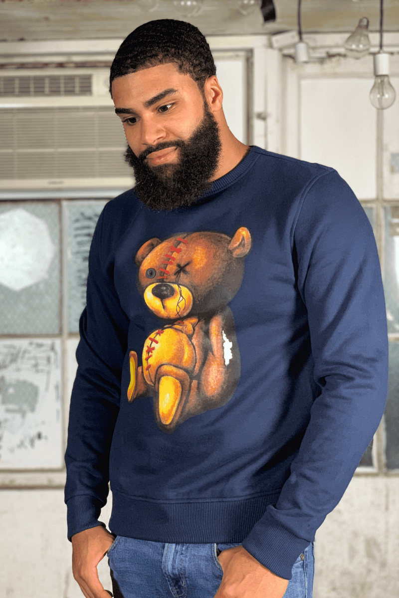 Colored Pencil Teddy (Navy)