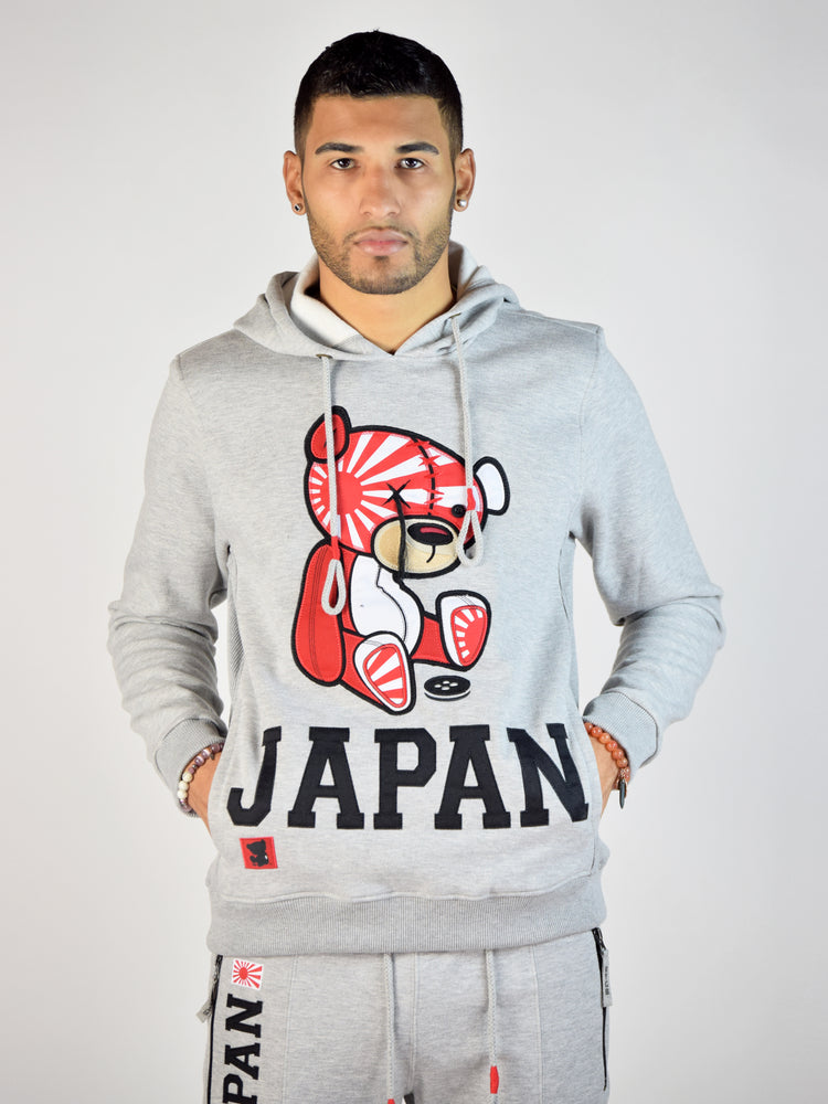 Japan Teddy Grind Global Hoodie (Heather Grey)